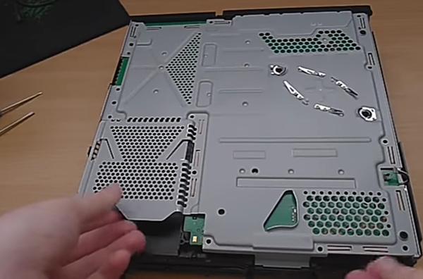 Remove plate; PS4 console