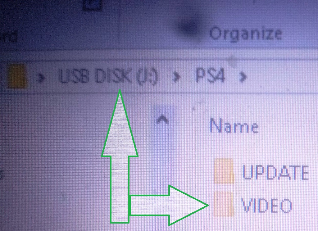 Create folder in usb drive to store media files